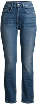 Lafayette 148 New York Reeve High-Rise Straight Ankle Jeans
