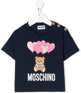 Moschino Kids logo-print crew-neck T-shirt