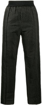 Haider Ackermann Polka dot slim-fit trousers - women - Silk/Polyester/Acetate/Rayon - 34