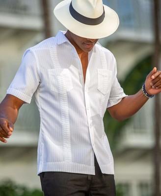 Cubavera 2 Pocket EcoSelect Textured Guayabera Shirt