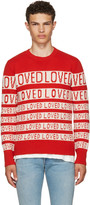 Gucci Red and White loved Sweater