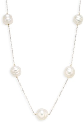 Tara Pearls 14K White Gold 10-11MM South Sea Baroque Pearl Station Necklace