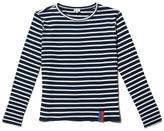 Kule The Modern Long Top in Navy/Cream