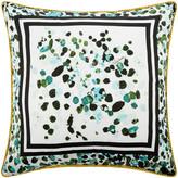 Roberto Cavalli Scamuskin Silk Bed Cushion - 40x40cm - Teal