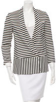 Veronica Beard Striped Shawl Collar Blazer