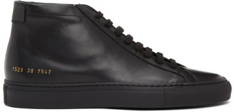 Common Projects Black Original Achilles Mid Sneakers