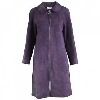 Jean Muir Purple Leather Coat for Women Vintage
