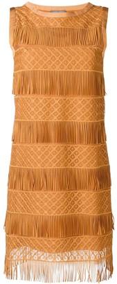 Alberta Ferretti fringe shift dress