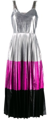 Christopher Kane Colour-Block Pleated Dress