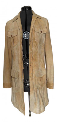 Roberto Cavalli Camel Leather Coats