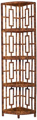 David Francis Furniture Tinley Etagere - Tortoiseshell