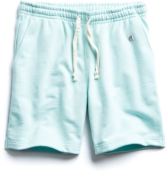 Todd Snyder + Champion Terry Warm Up Short in Surf Green