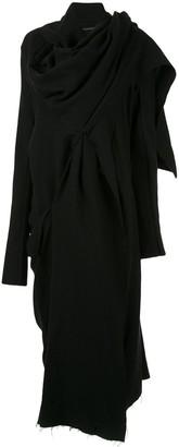 Yohji Yamamoto Tuck Drape Dress