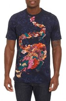 Robert Graham Men's Dragon Floral T-Shirt
