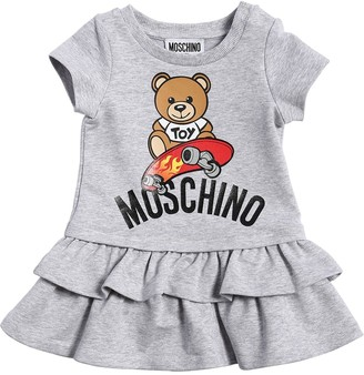 Moschino TOY PRINT COTTON SWEATER DRESS