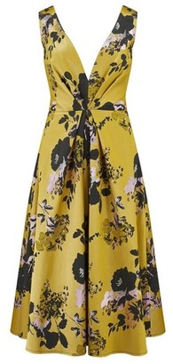 Dorothy Perkins Womens **Little Mistress Multi Colour Floral Print Jaquard Midi Dress, Multi Colour