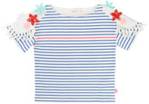 Billieblush Sale - Foral Shoulder Striped T-Shirt