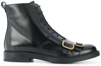 Tod's Buckle-Detail Flat Boots