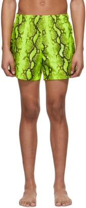 Off-White Yellow Snake Swim Shorts