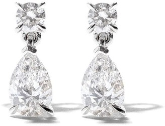 As 29 18kt white gold Mye diamond earrings