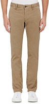 Incotex MEN'S TWILL CHINOS-BEIGE, TAN SIZE 30