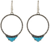 Steve Madden Triangle Turquoise Ring Drop Earrings