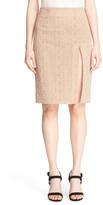 Jonathan Simkhai &Burlesque& split Eyelet Pencil Skirt