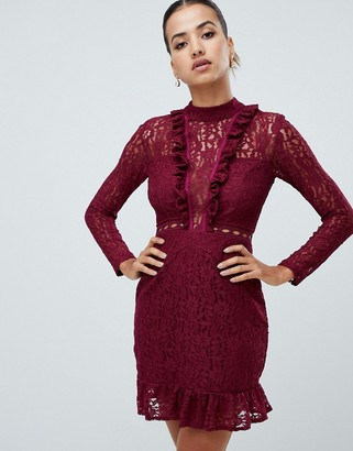 AX Paris long sleeve lace skater dress