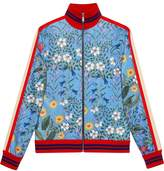 Gucci New Flora technical jersey jacket