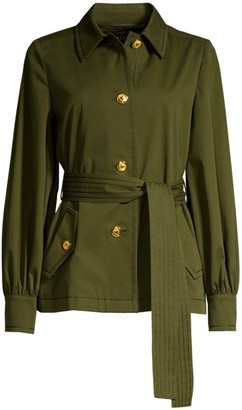 Escada Bibina Brushed Cotton Belted Jacket