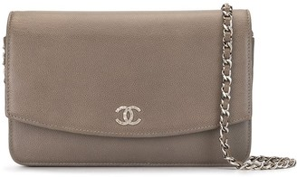 Chanel Pre Owned Quilted Wallet On Chain