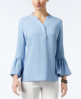 Alfani Y-Neck Bell-Sleeve Blouse, Only at Macy's