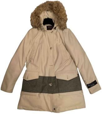 Woolrich White Wool Coat for Women