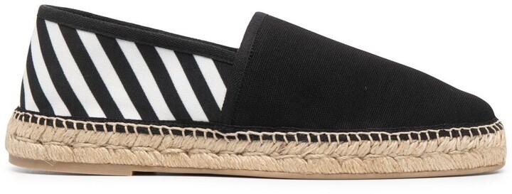 Off-White Diagonal Stripes Espadrilles