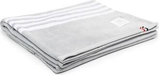 Thom Browne terry 4-Bar large gym towel