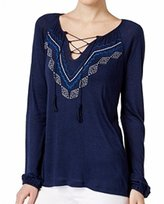Sanctuary Women's Lace up Boho Tee