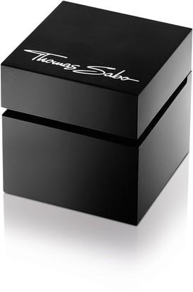 Thomas Sabo Karma Black Dial Rose Detail Bracelet Ladies Watch