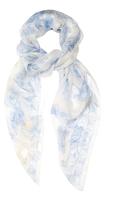 Alexander McQueen Skull and hummingbird silk-chiffon scarf