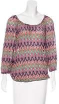 Trina Turk Crochet Long Sleeve Top
