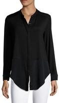 Three Dots Button Down Shirt Tunic