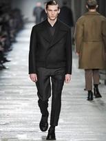 Neil Barrett Compact Wool Short Pea Coat