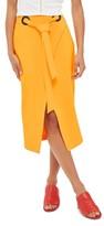 Topshop Women's Grommet Wrap Midi Skirt