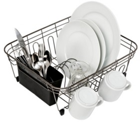 Honey-Can-Do Wire Dish Rack, Black