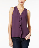 Maison Jules Ruffled Peplum-Back Top, Only at Macy's