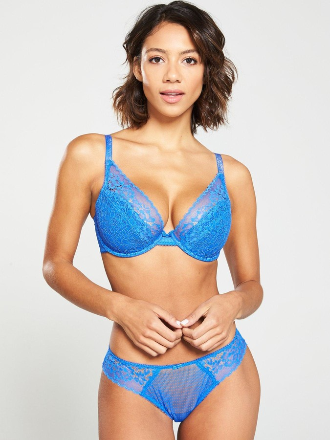 Cleo by Panache Everly High Apex Plunge Bra - Electric Blue