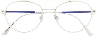 Tom Ford Double-Bridge Round-Frame Glasses