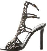 Tamara Mellon Caged Patent Leather Sandals