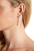 Rebecca Minkoff Two-Tone Drop Cuff Earrings