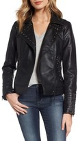 Steve Madden Women's Studded Faux Leather Biker Jacket