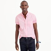 J.Crew Short-sleeve garment-dyed shirt in classic pink